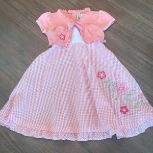 Girls size 5 Youngland short sleeve dress